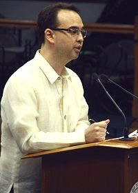 Senate minority leader Alan Peter Cayetano