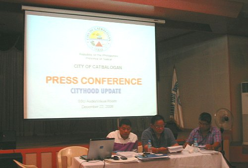 Catbalogan cityhood press conference