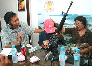 Rescued NPA child courier in Samar