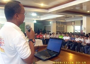 Governor Evardone during 1st Provincial Youth Congress on Climate Change
