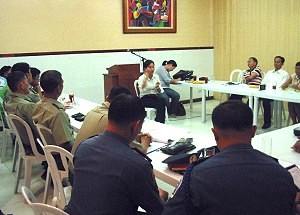 Multi-Sectoral Quick Reaction Team (MSQRT) meeting in Samar