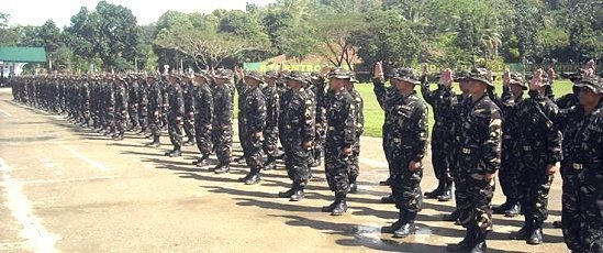 New army recruits of the 8ID.