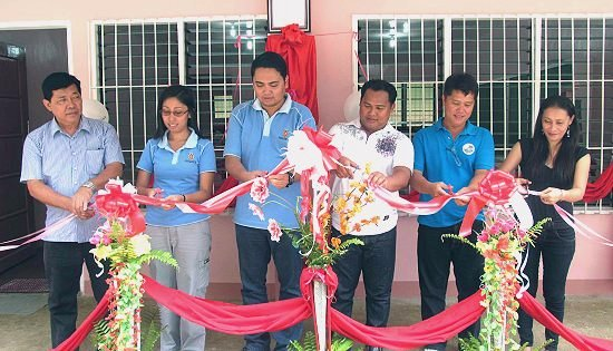 turnover ceremony of elementary classroom in Asturias, Cebu