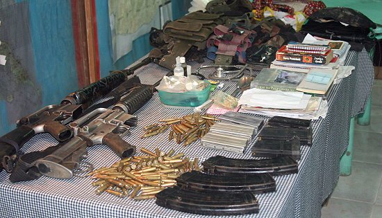 recovered firearms from NPA