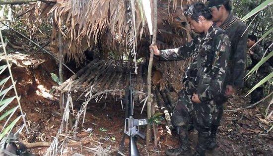 NPA camp at Sitio Dakong Sapa, Buenasuerte, Victoria, Northern Samar