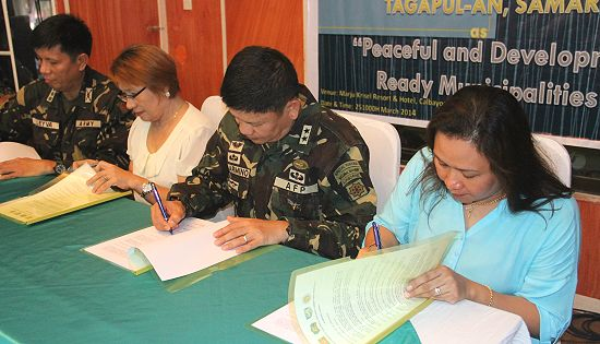 Samar Peaceful and Development Ready Municipalities joint signing