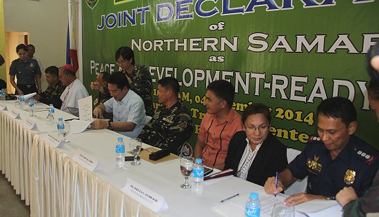 Joint Declaration of Northern Samar as Peace and Development Ready Province