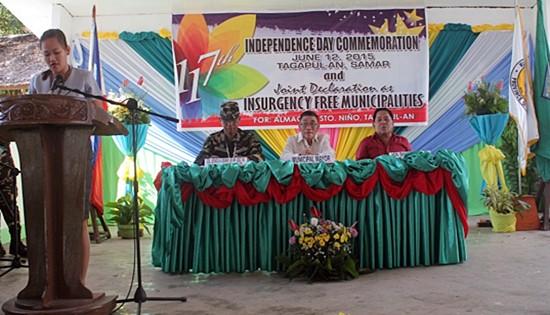insurgency-free towns in Samar