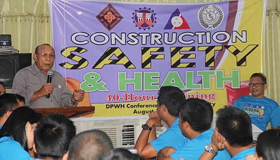 DPWH occupational safety training for contractors