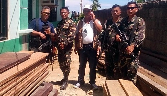 confiscated illegal lumbers in eastern samar