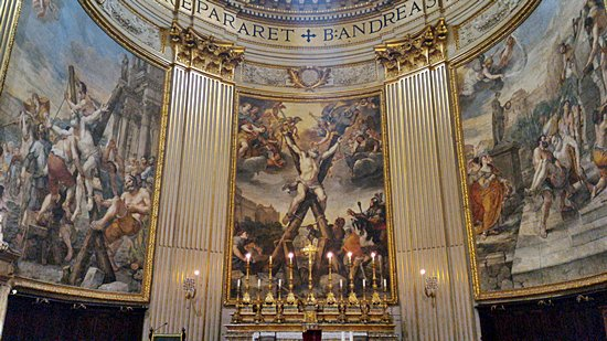 Sant' Andrea main altar - Saint Andrew's Passion