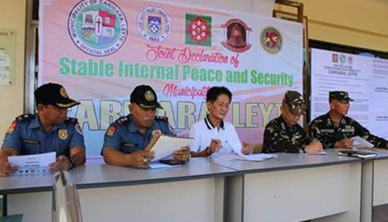 MOA signing declaring Carigara, Leyte as Stable Internal Peace and Security municipality