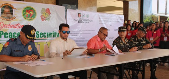 Ceremonial signing of the Joint Declaration of Stable Internal Peace and Security Ormoc City