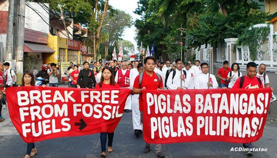 Piglas Pilipinas! march against coal plants in Batangas