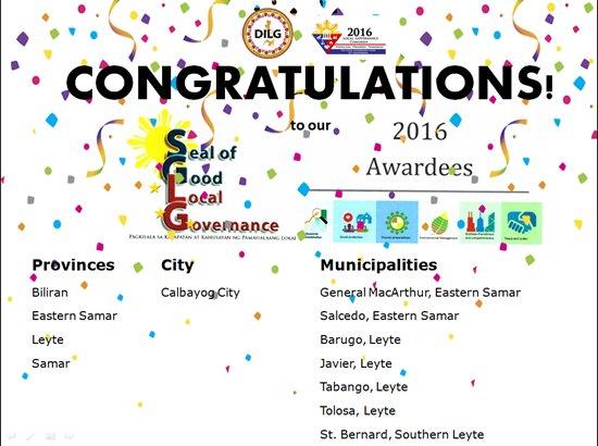 region 8 SGLG winners
