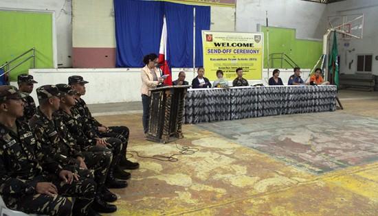 Bayanihan Team Activity (BTA) send-off ceremony in Catarman