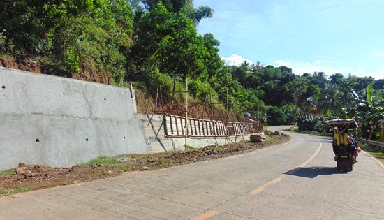 Construction of Slope Protection along Biliran Circumferential Road