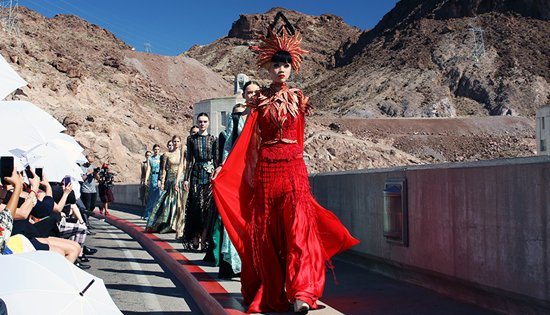 Jessica Minh Anh Hoover Dam catwalk