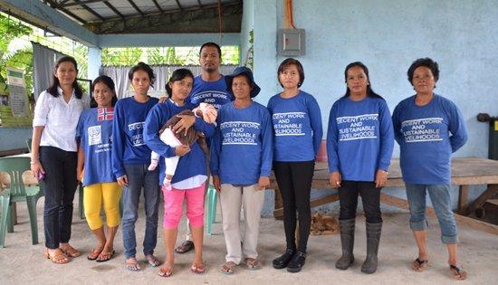 members of the Magbinuligon Bayanihan Association-Women in Development Association (MBA-WIDA)