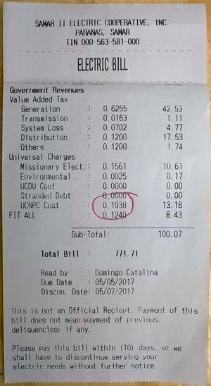 Samelco II electric bill