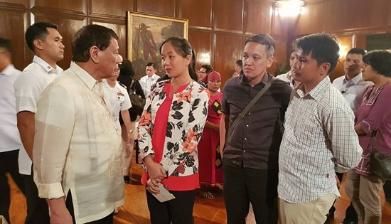 President Duterte meeting with Bayan leaders