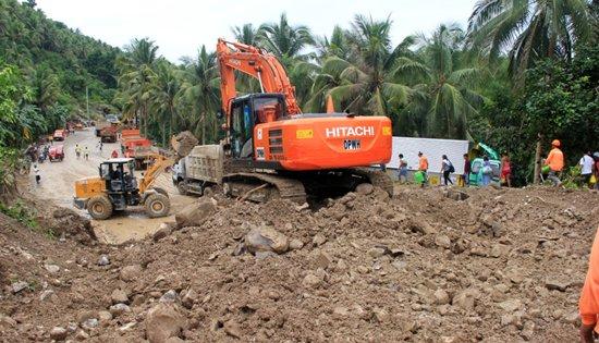 Calbayog-Allen road landslide