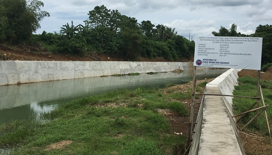 Flood Control project along Caray-caray River