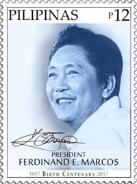 Marcos centennial stamp