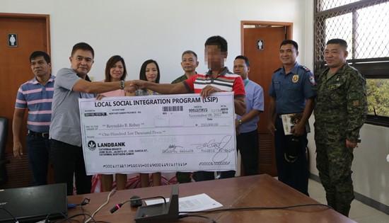 NPA surrenderer livelihood cash assistance