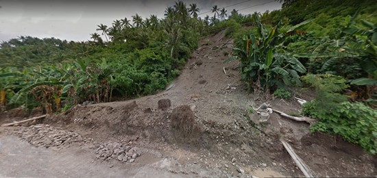 slope protection project site