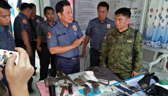 Army and PNP troopers recovers firearms