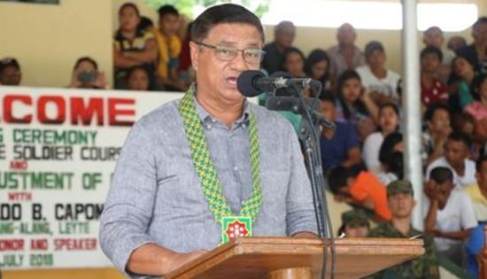 alang-alang, Leyte municipal mayor Reynaldo B. Capon Sr.