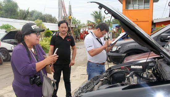 DPWH vehicle and equipment inspection
