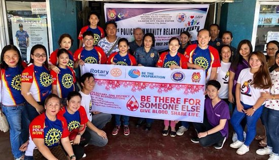 Rotary Club of Calbayog bloodletting activity