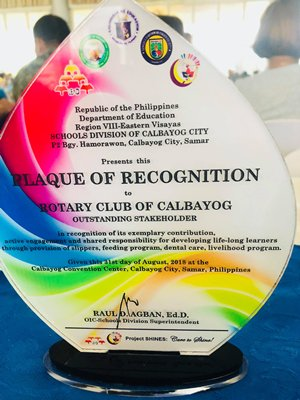 Rotary Club of Calbayog award