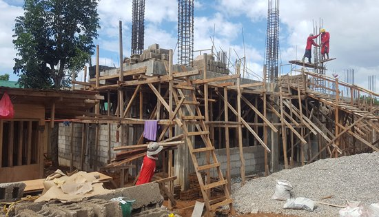 Construction of P25,373.00 2-storey 4-classroom at Naval National High School