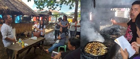 tinapa (smoked fish) training
