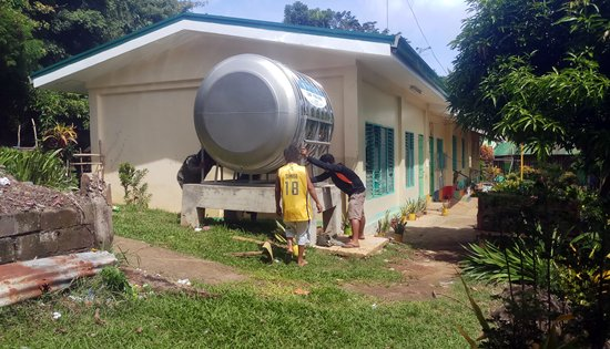 Rainwater collection system at JD Garcia Elementary School