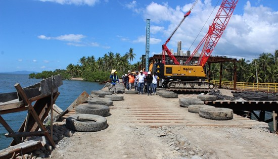 construction of Minuhang bridge