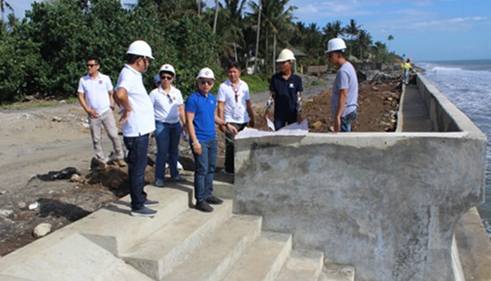 Dulag seawall project