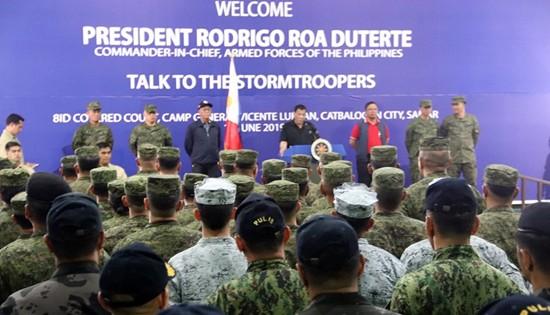 President Rodrigo Duterte visit to 8th Infantry (Stormtroopers) Division