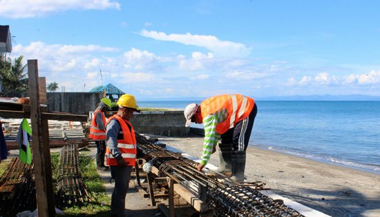 Dulag seawall project