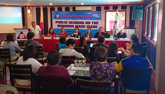 Public hearing on minimum wage