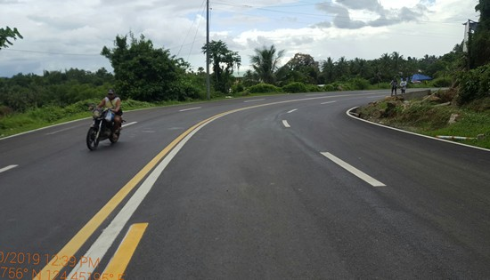 Completed P70.48M asphalt overlay project at Brgy. Lucsoon, Naval, Biliran