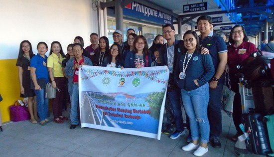 Arrival of NNC-Calabarzon and media partner CNN-4A at Tacloban Airport