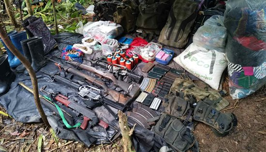 seized high powered firearms in Northern Samar