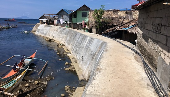 Cagnipa River flood control structure
