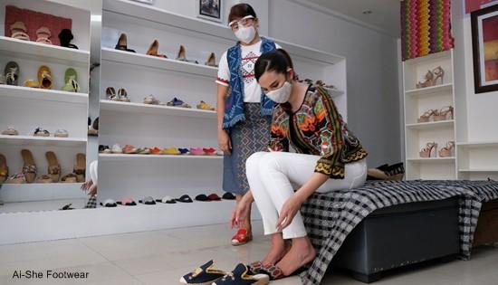 Catriona Gray at Ai-She Footwear
