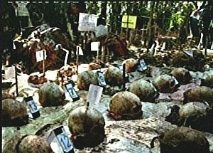 Uncovered mass grave in Mt. Sapang Daku, Inopacan, Leyte photo