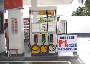 DOE gas discount lane